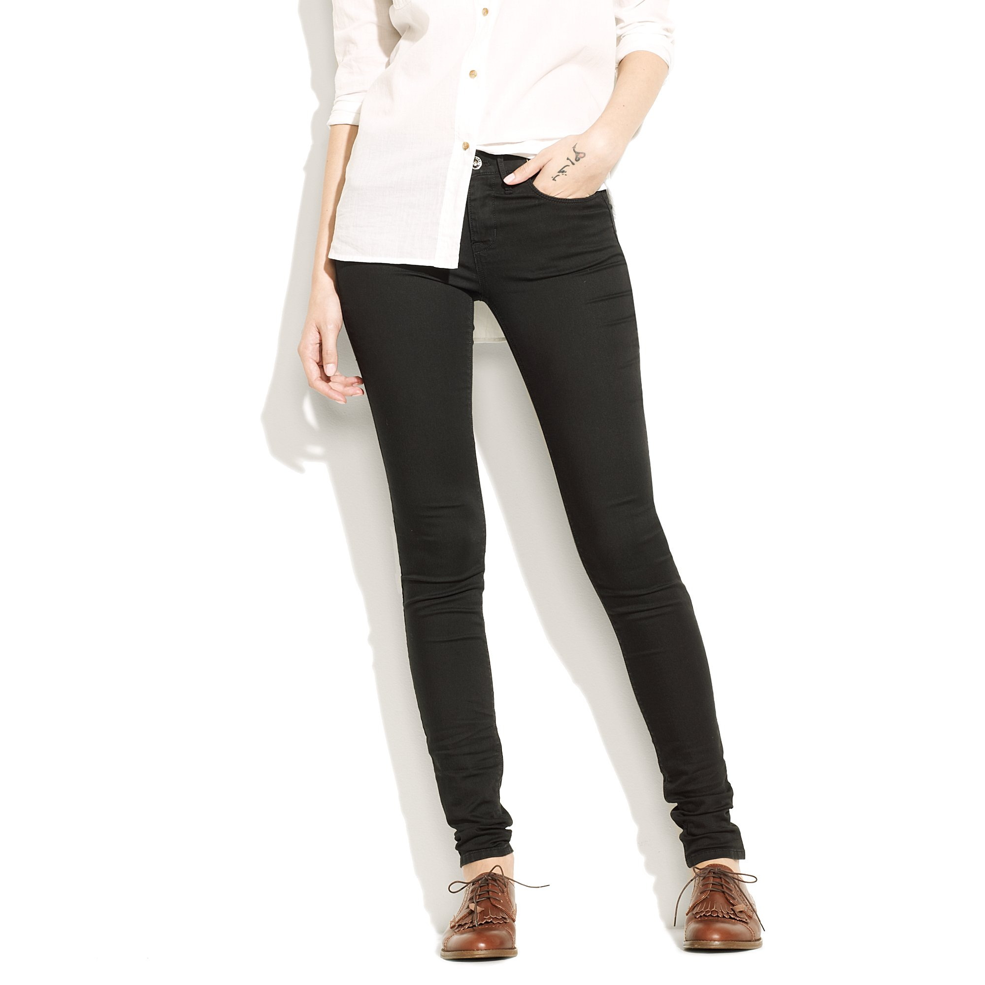 7928a231d689c Madewell Legging Jeans in Classic Black in Black - Lyst