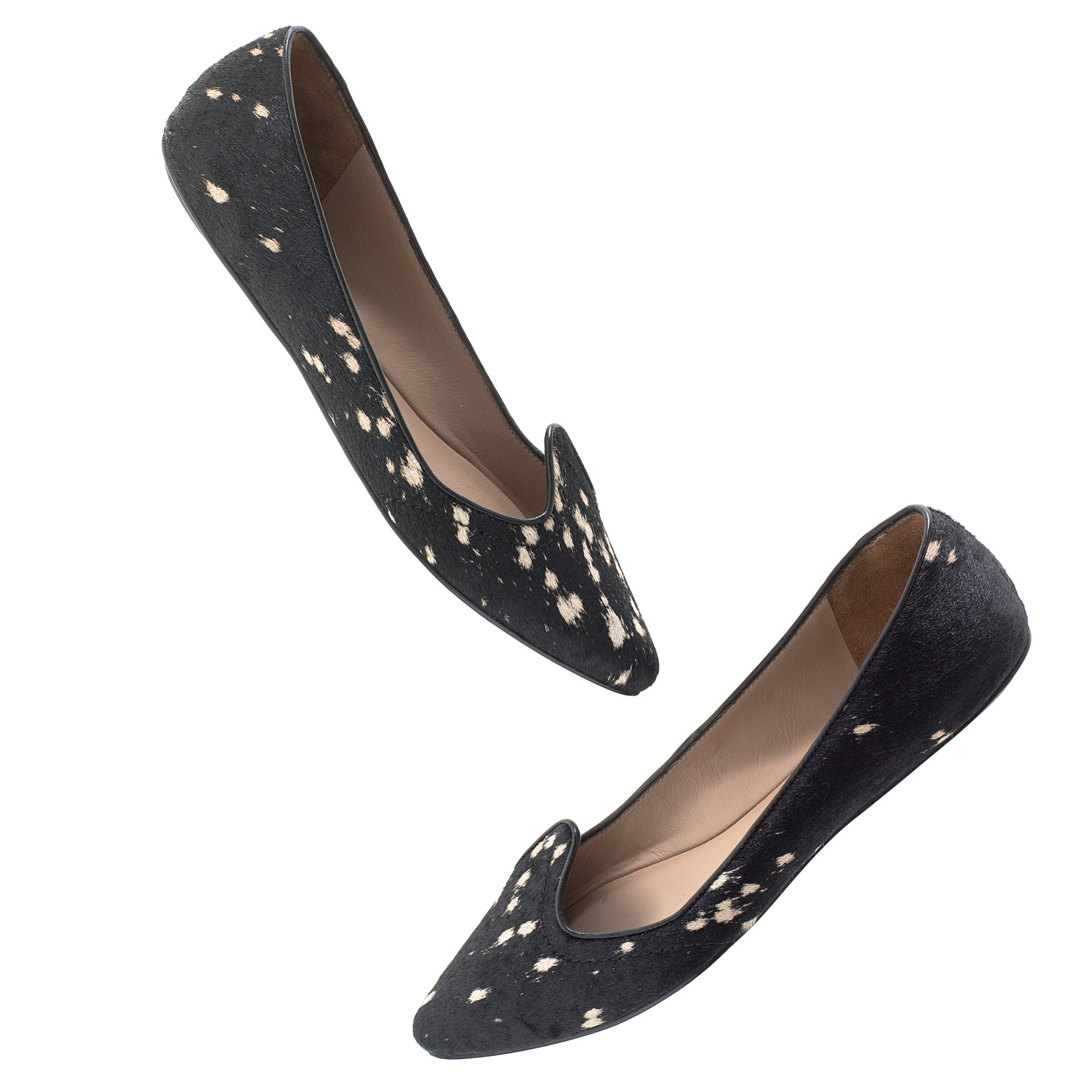 176da8b07 Lyst - Madewell Belle By Sigerson Morrison® Pony Flats in Black