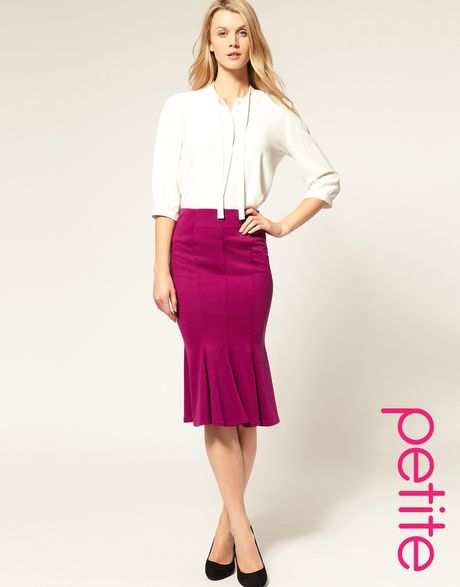 asos collection asos ponti pencil skirt with fishtail in