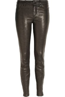 J Brand Stretch-leather Skinny Pants - Lyst