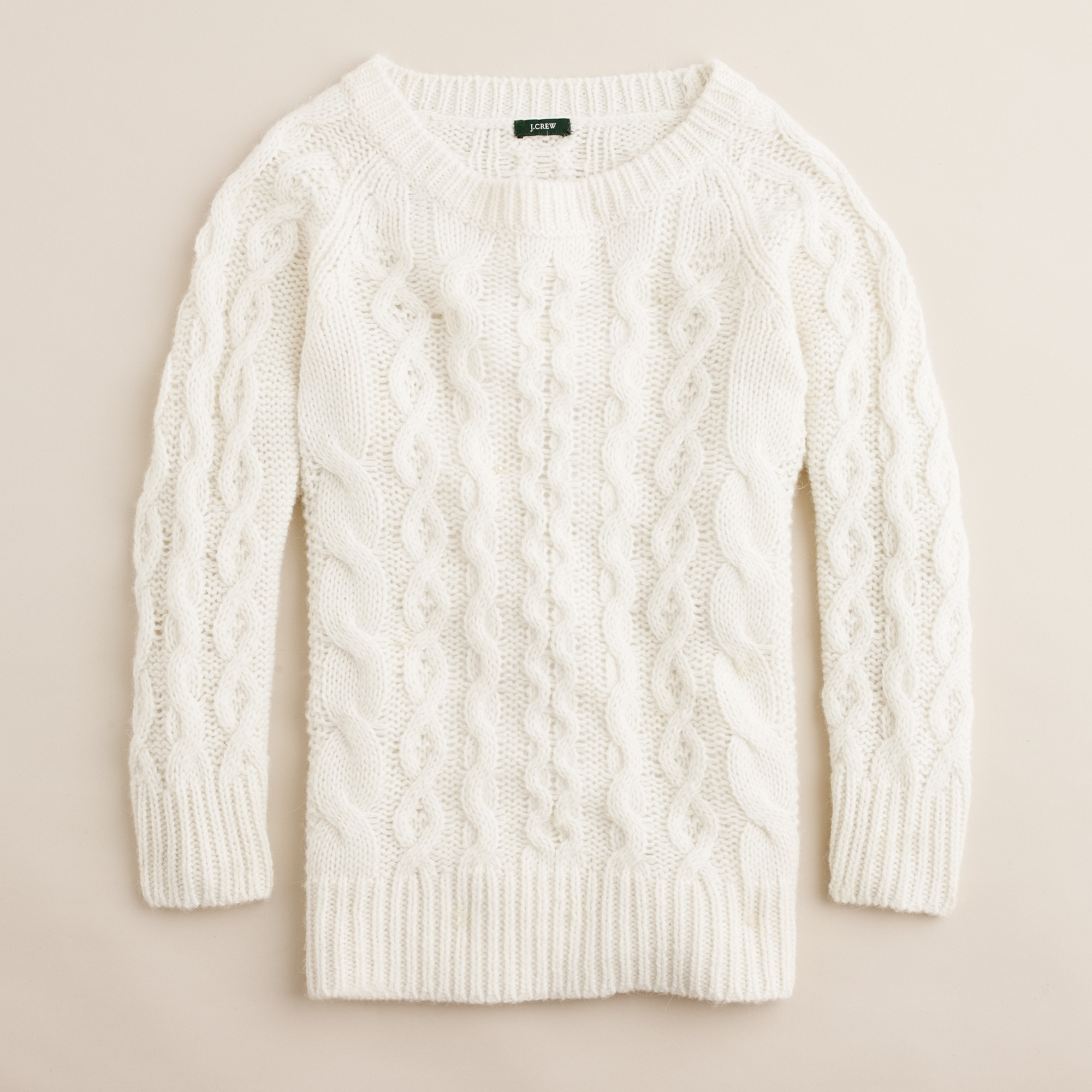 Jcrew vintage champagne fisherman sweater product 1 2198853 979906907