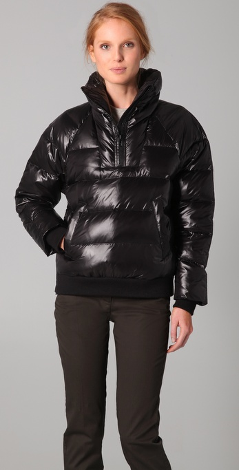 Theory Liyala Pullover Puffer Coat in Black   Lyst