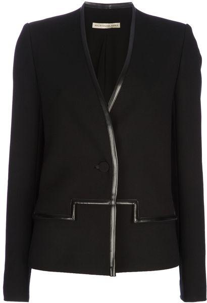 Balenciaga Silk Lined Jacket in Black - Lyst