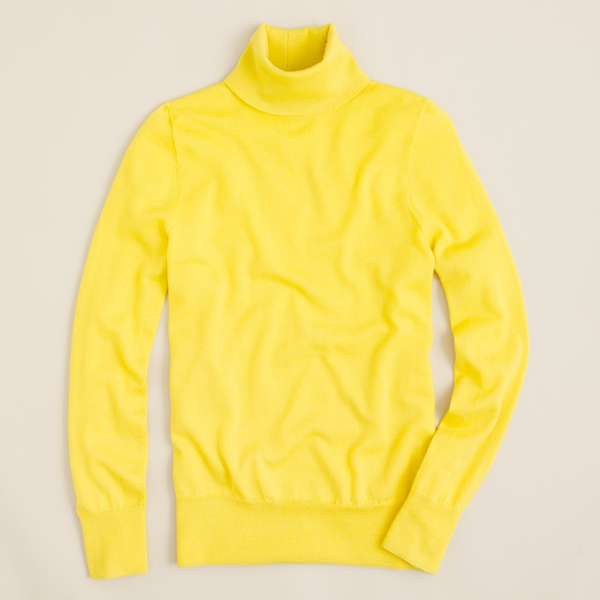 J.crew Merino Turtleneck Sweater in Yellow
