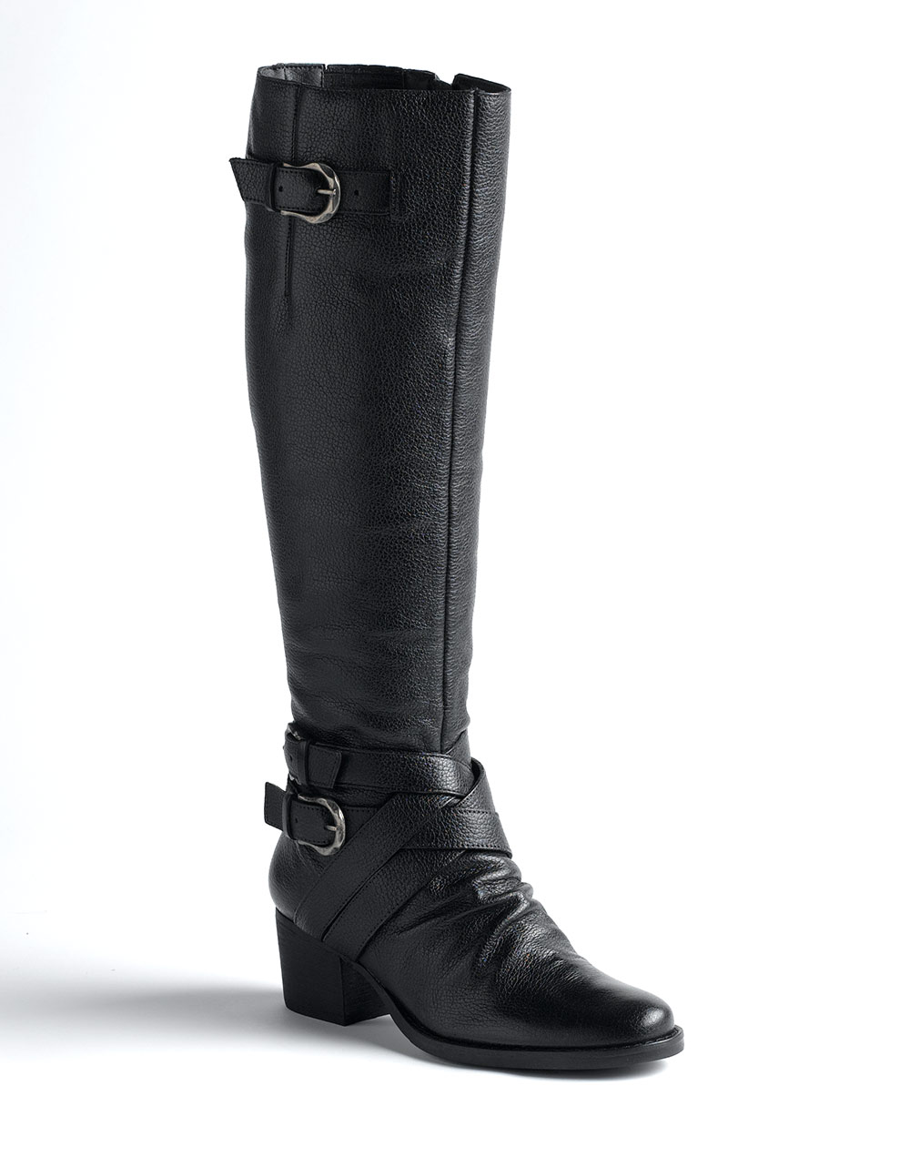 matisse colt pull on leather boots in black black