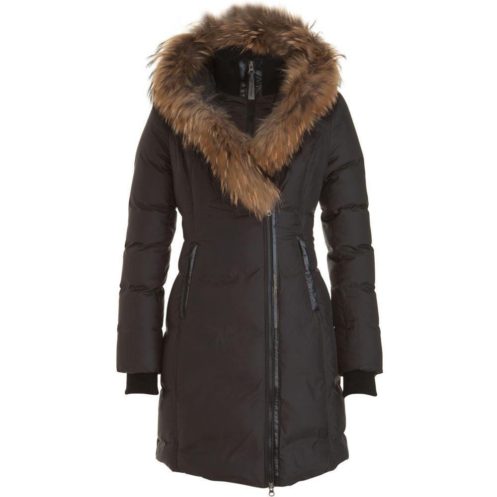 Mackage Fur Hood Parka In Black Lyst