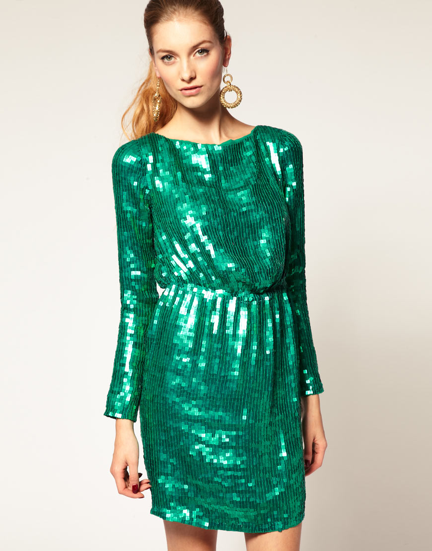 Red sequin dress asos - Dress on sale