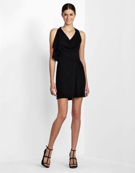 Bcbgmaxazria Sleeveless Cowl-neck Dress in Black