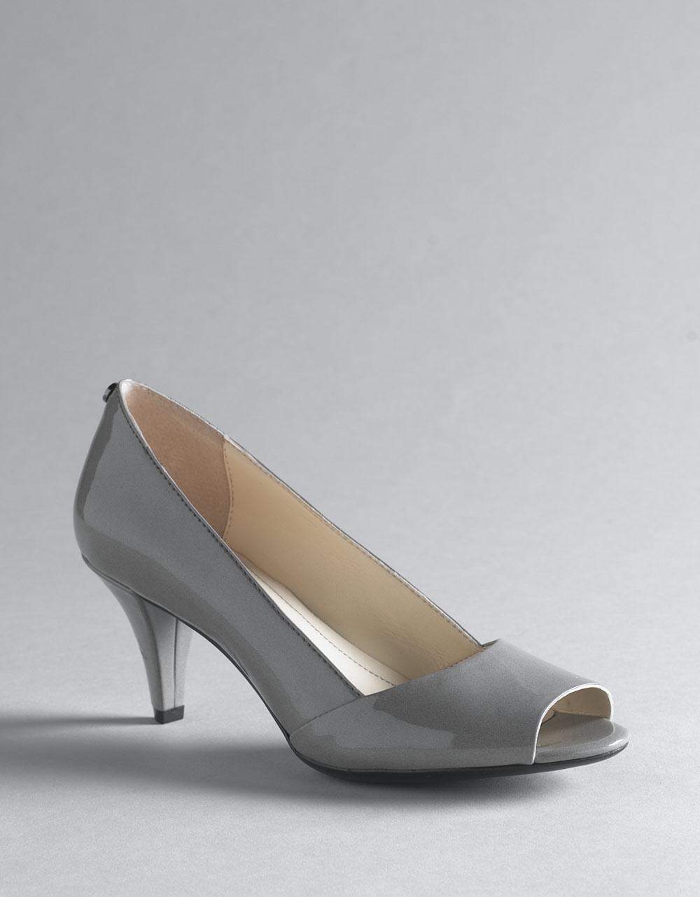 gray peep toe heels factory d4377 e97a0