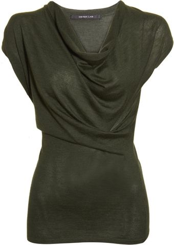 Derek Lam Draped Neck Top - Lyst