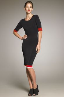 Donna Karan New York Jersey Contrast Dress - Lyst