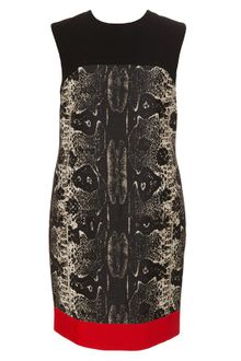Giambattista Valli Python Printed Wool-silk Dress - Lyst