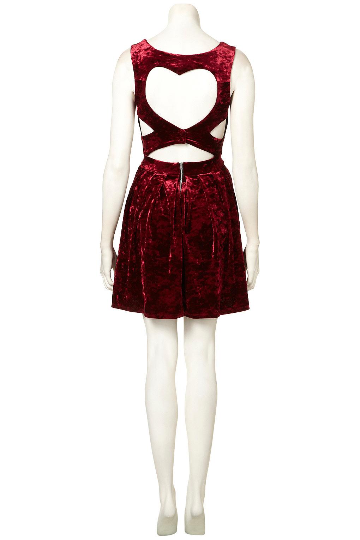 Lyst Topshop Velvet Heart Back Prom Dress By Dress Up In