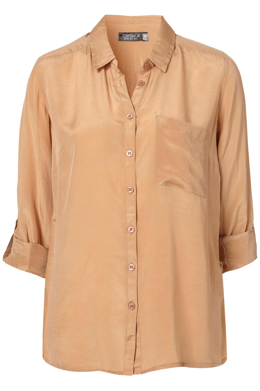 81a403da1c44f Camel Silk Blouse