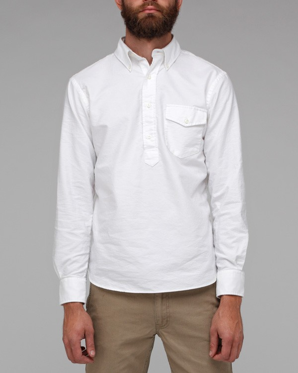 New england shirt co. Oxford Pop Over Shirt in White for Men | Lyst