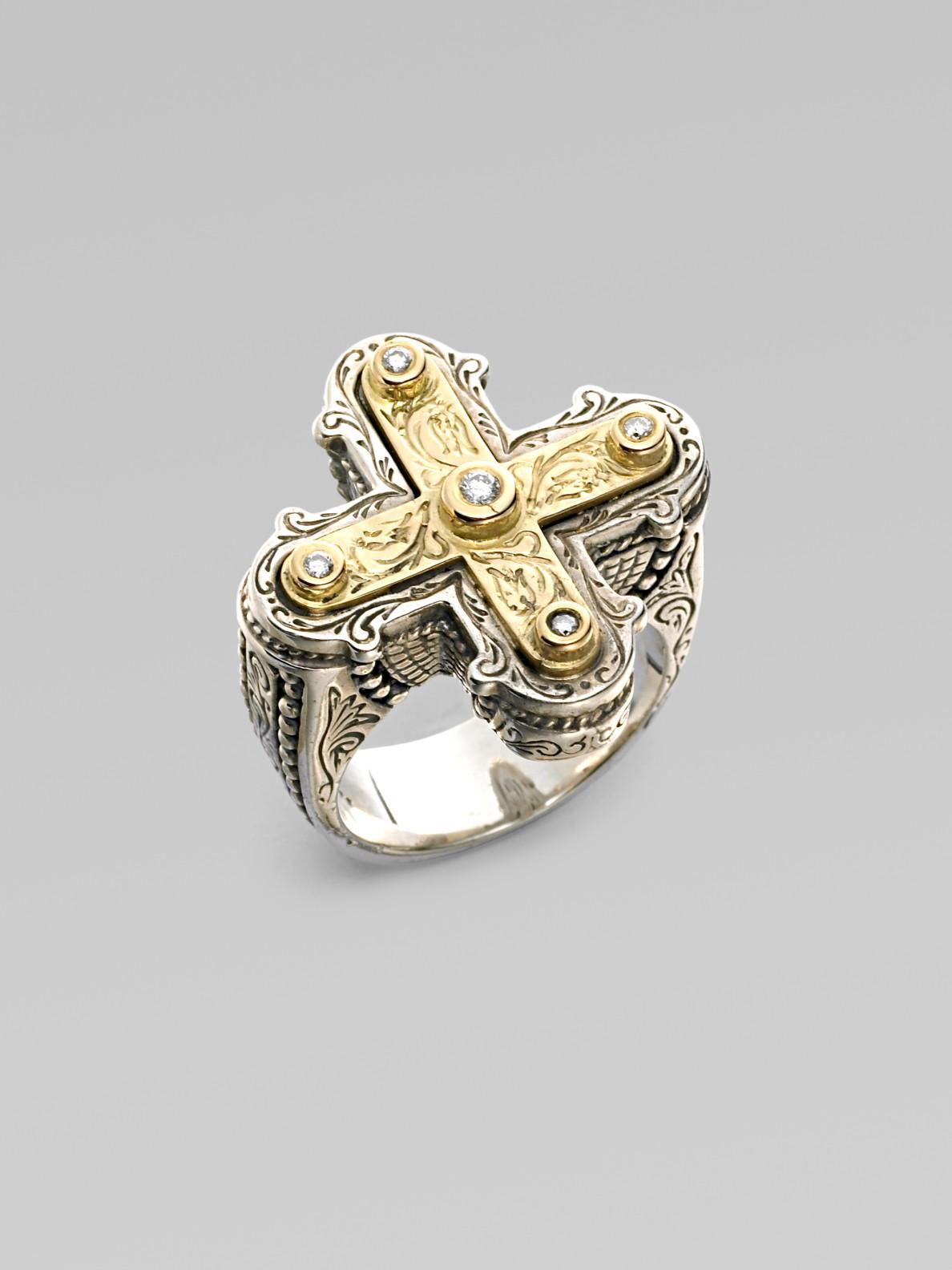 Lyst Konstantino Sterling Silver Amp 18k Gold Diamond