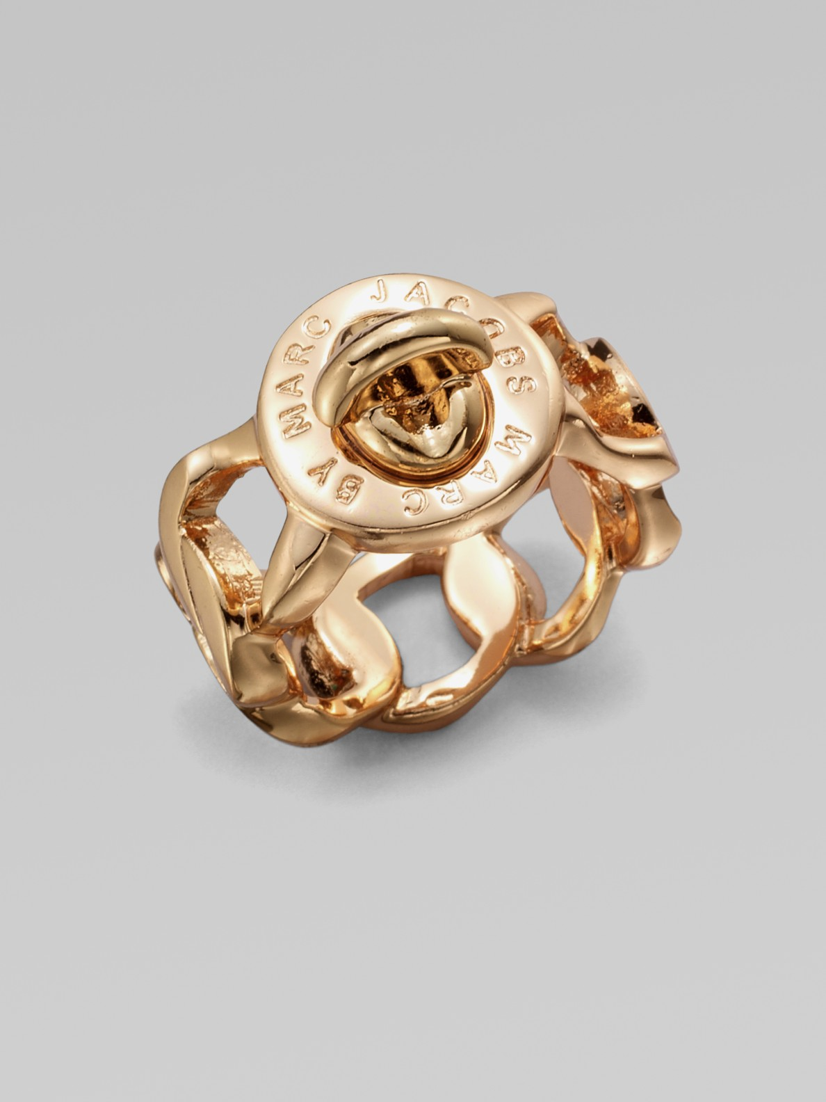 Marc By Marc Jacobs Katie Turnlock Ring Rose Goldtone In