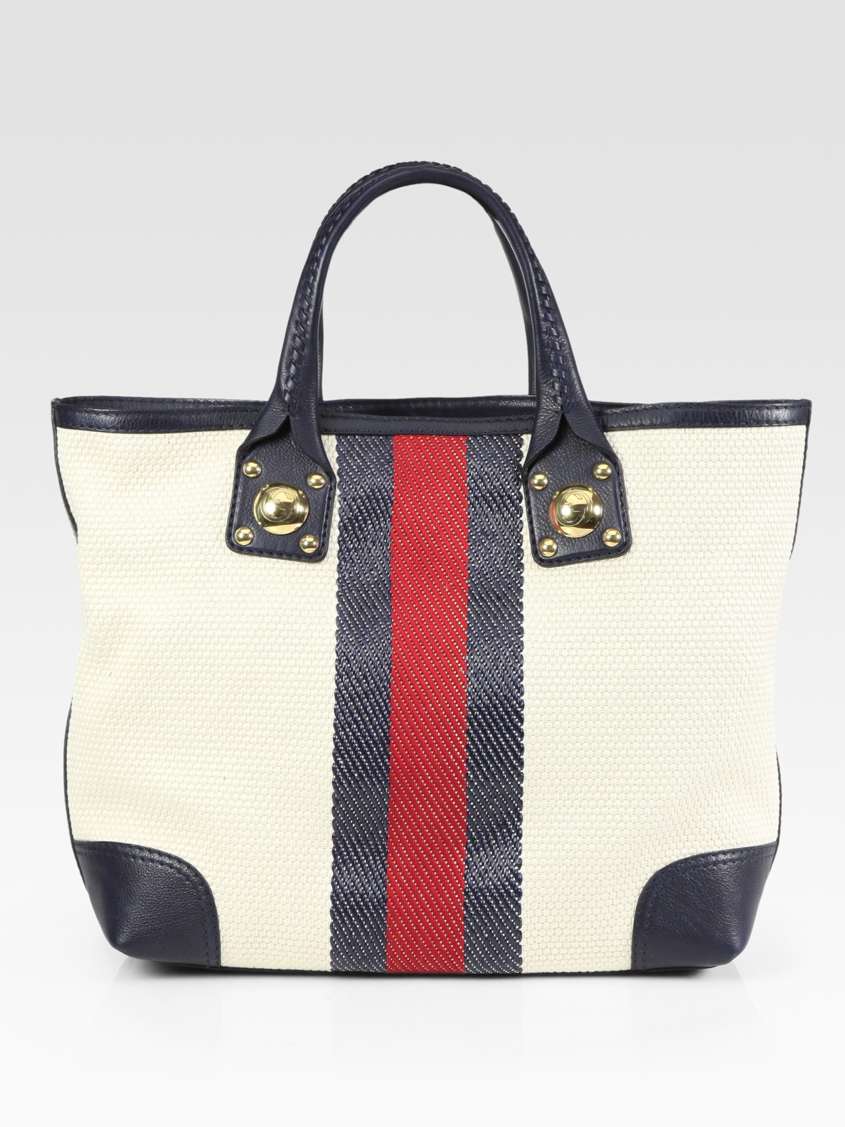 e8cb43f1f57 Lyst - Gucci Sunset Top Handle Tote Bag in Natural
