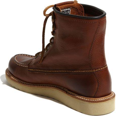 frye dakota wedge boot in brown redwood lyst