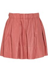 Marc Jacobs Pleated Leather Skirt