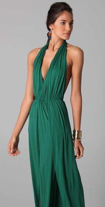 Green Halter Dresses
