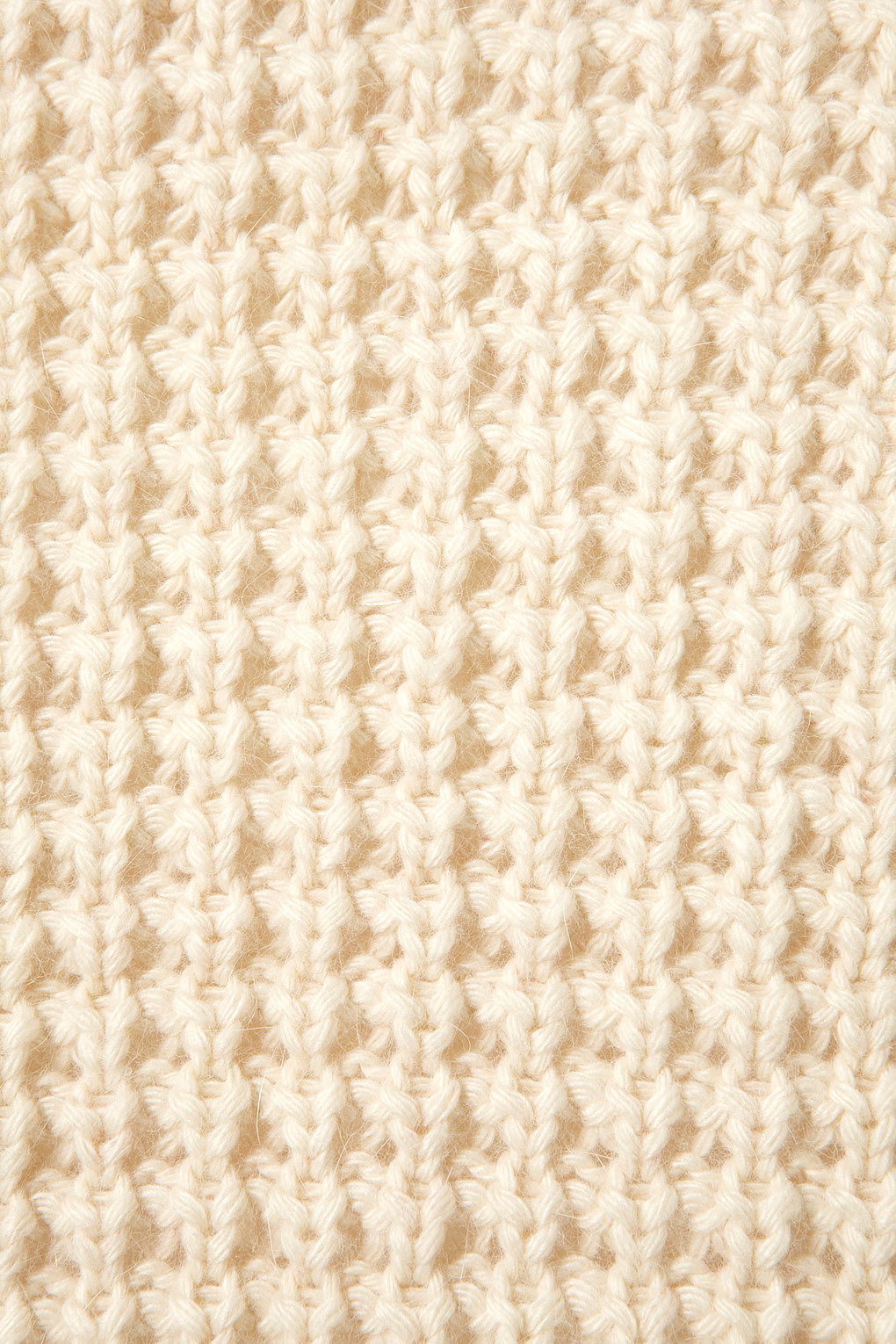 Lyst Topshop Knitted Waffle Stitch Cardi In Natural