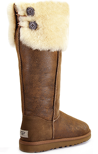 Lyst Ugg Bailey Button Chestnut Suede Over The Knee