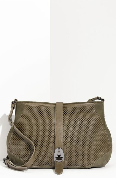 Burberry Calfskin Leather Crossbody Bag in Khaki (pebble)