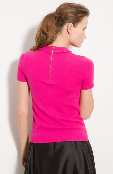 Kate Spade Ellis Wool Amp Cashmere Bow Sweater In Pink