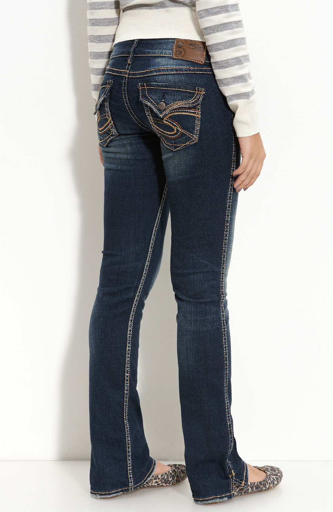 Silver jeans co. Suki Mid-rise Bootcut Jeans in Blue | Lyst
