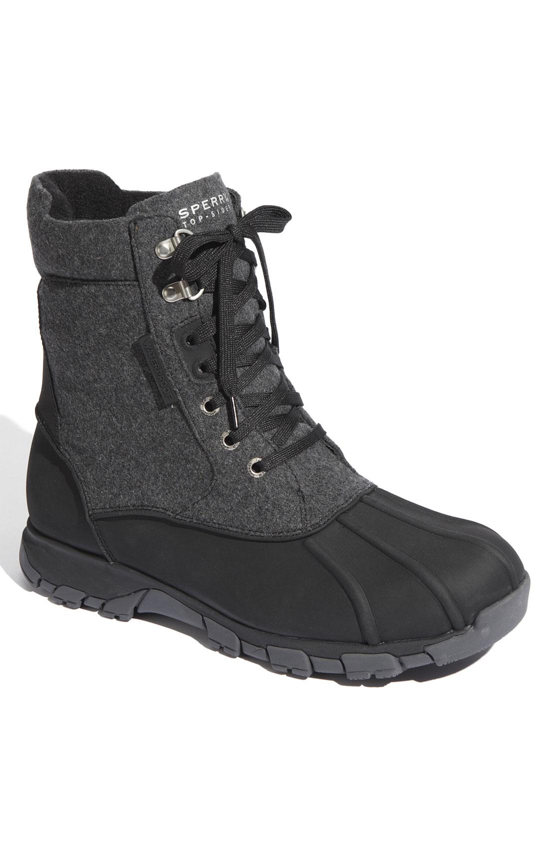 Sperry Top Sider Wetlands Boot In Gray For Men Grey Wool