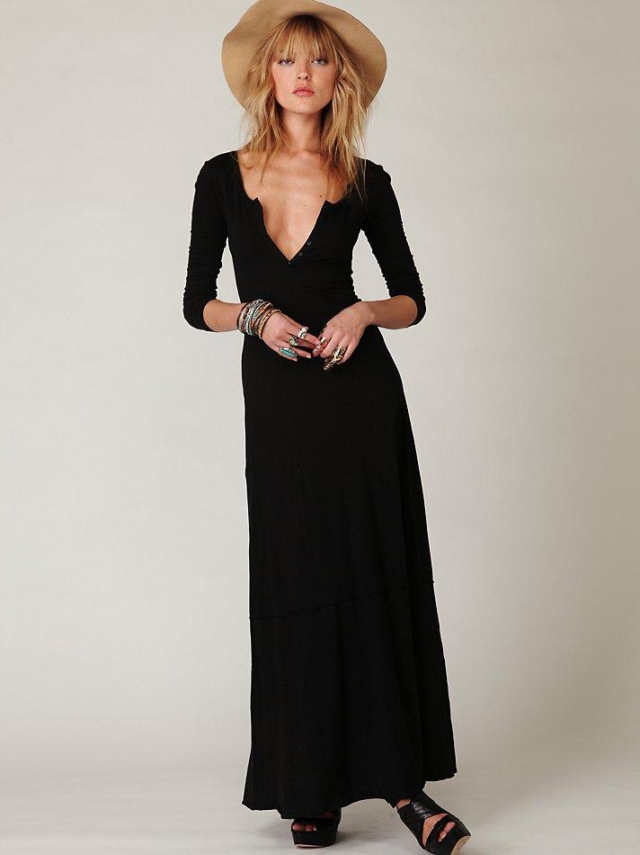 Lyst Free People Miles Of Henley Dress In Black
