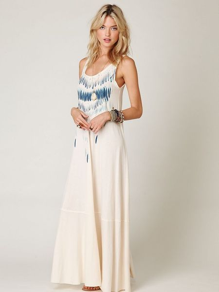 Free People Maunakea Trapeze Maxi in White (ivory)