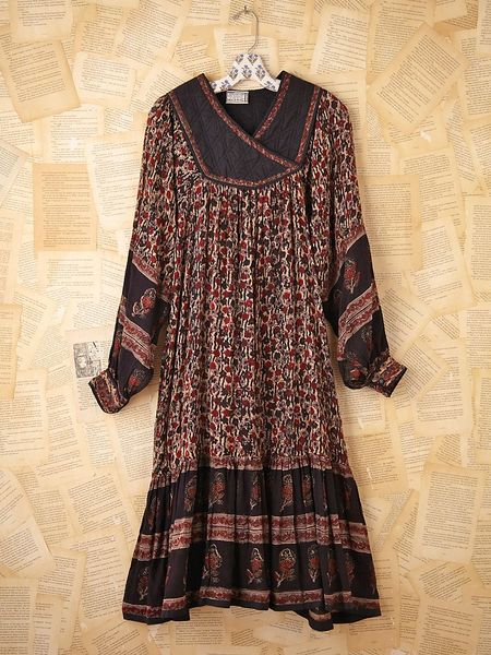 Free People Vintage Floral Printed Dress in Multicolor (multi)