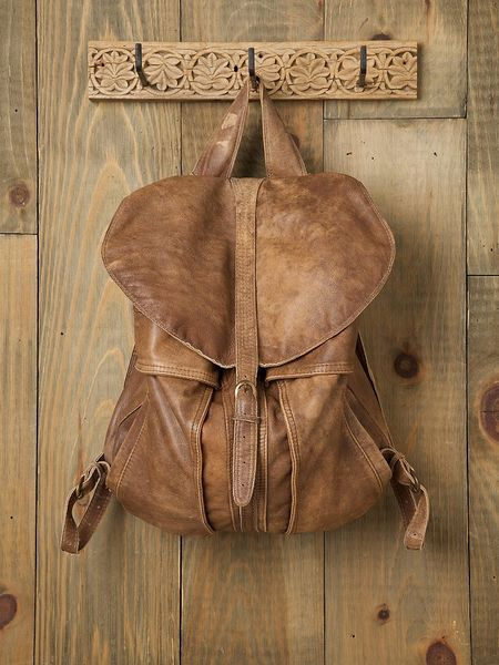 Free People Belmont Backpack in Brown (tan leather)