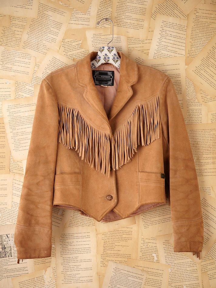 edcbf4febba Lyst - Free People Vintage Fringe Leather Jacket in Brown