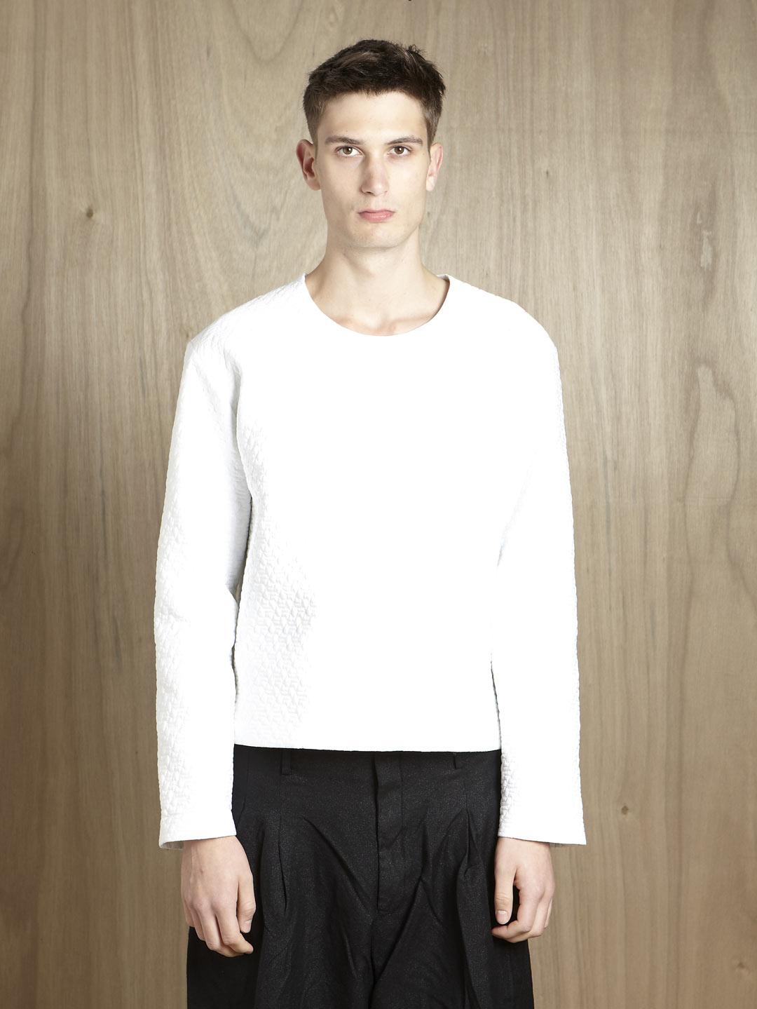 Jil sander jil sander mens quilted long sleeve t shirt in for Jil sander mens shirt
