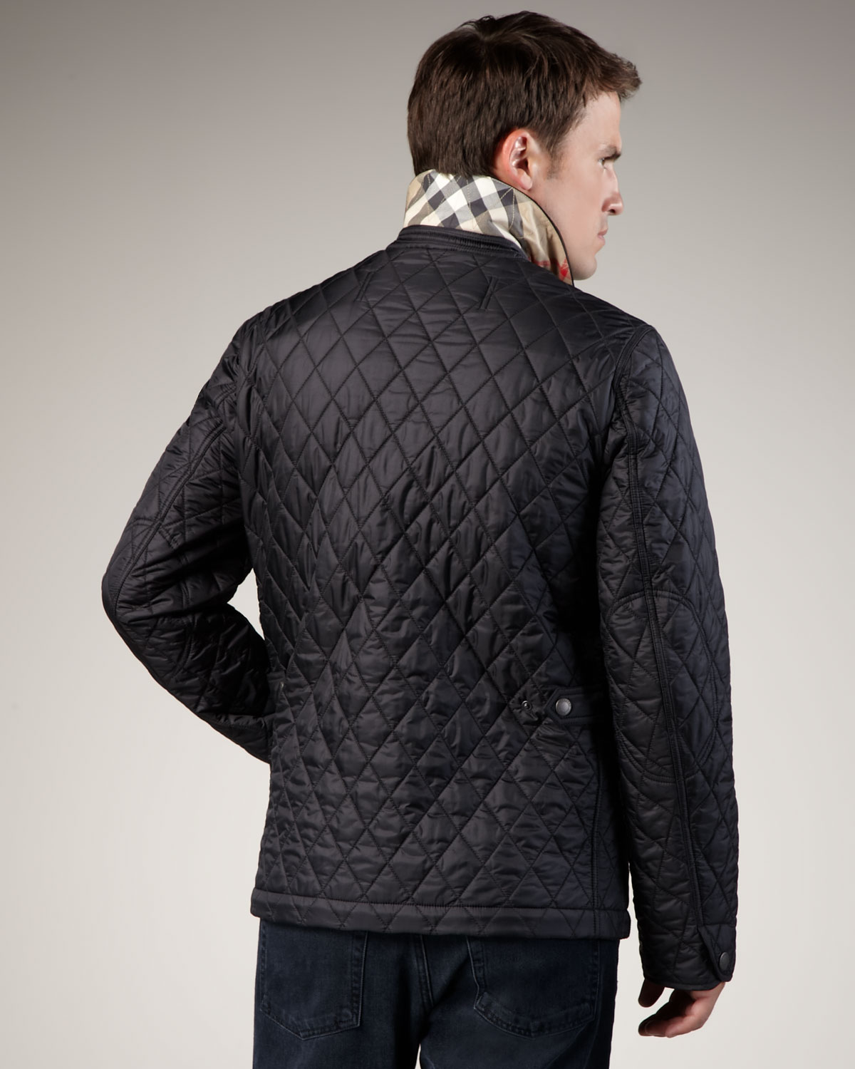 black gallery jacket image in quilted diamond burberry mens women quilt