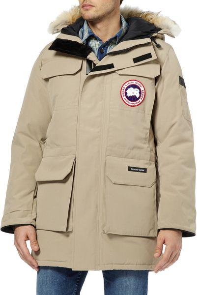 Canada Goose Citadel Coyote Trim Parka Jacket In Beige For