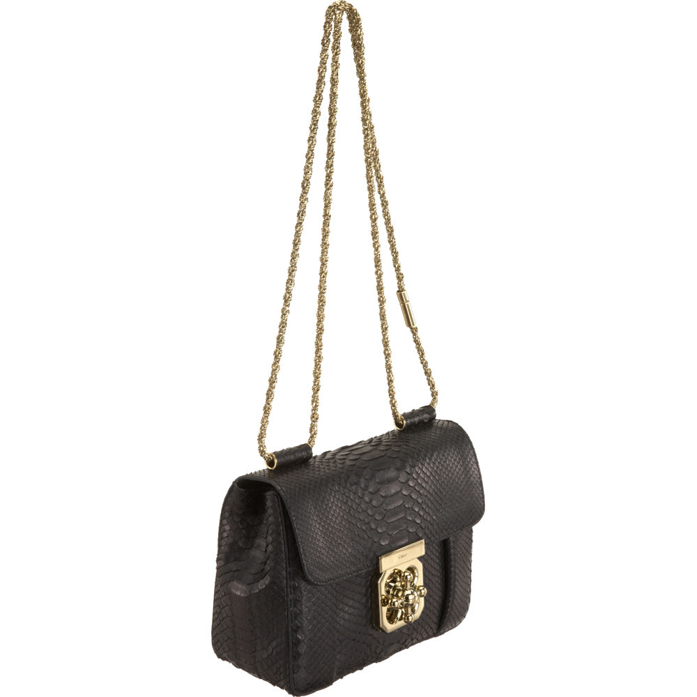 Chlo¨¦ Python Elsie Bag in Black | Lyst