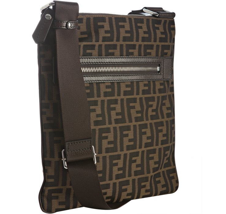 Lyst Fendi Tobacco Zucca Canvas Messenger Bag In Brown