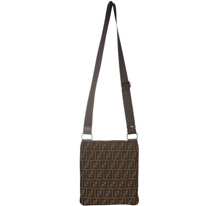 0fc042677b90 ... coupon lyst fendi tobacco zucca canvas messenger bag in brown for men  6abab 5b476
