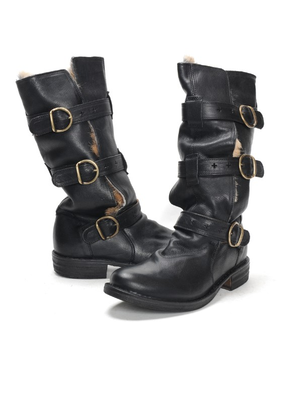 fiorentini baker eternity boot with fur in black lyst. Black Bedroom Furniture Sets. Home Design Ideas