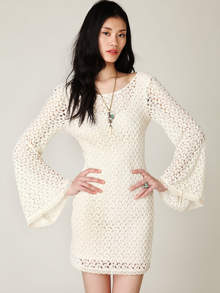 f33b8aba5967 Lyst - Free People Gypsy Lace Dress in White