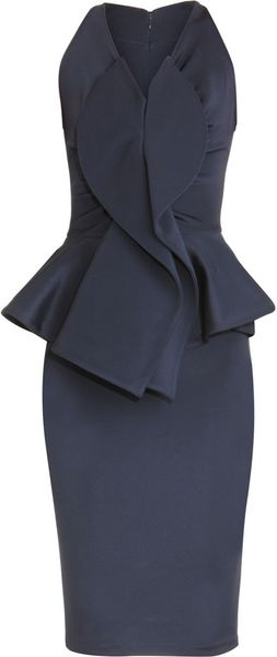 Givenchy Peplum Dress in Blue (navy)