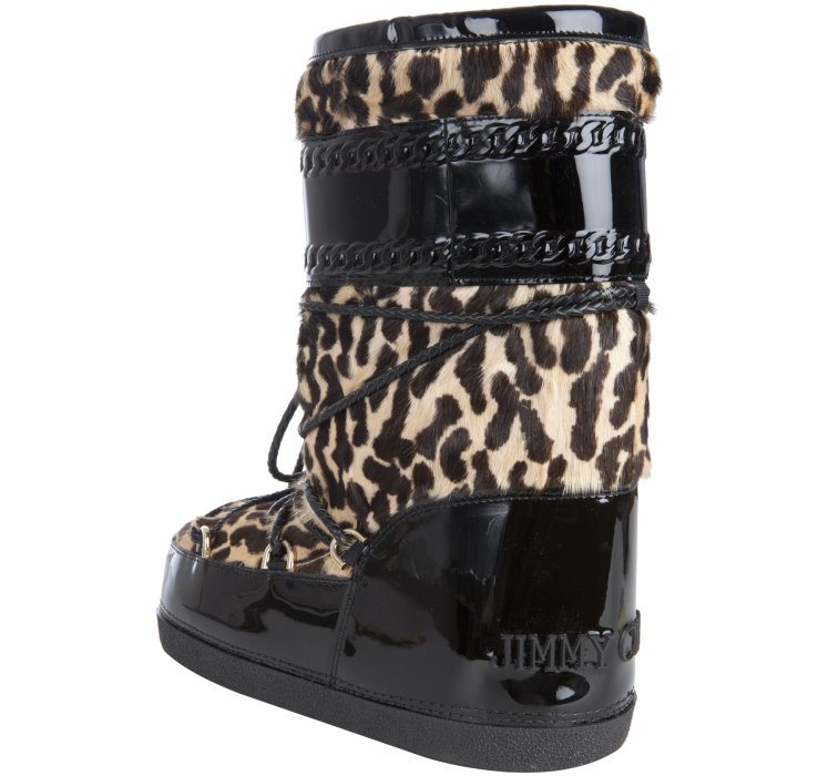 outlet sale online great deals cheap online Jimmy Choo Patent Leather & Ponyhair Moon Boots Ja1Tv9