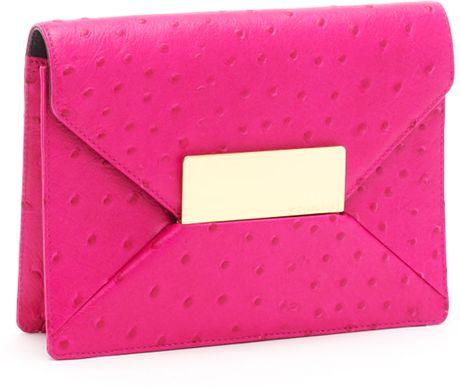 Michael Kors Quinn Clutch, Neon Pink in Pink