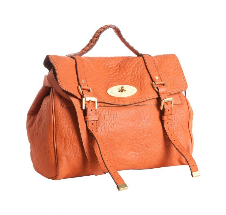 ... get edition handbag lyst mulberry pumpkin leather alexa oversized  satchel in orange f8060 c4908 3b76dc6b0f1bc
