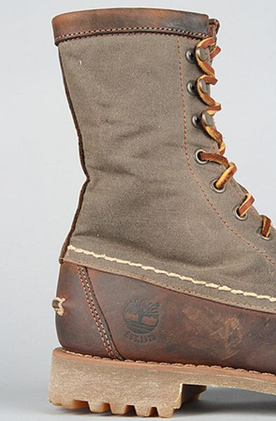 Timberland Heritage 8 Rugged Hand Sewn Boot In Brown For