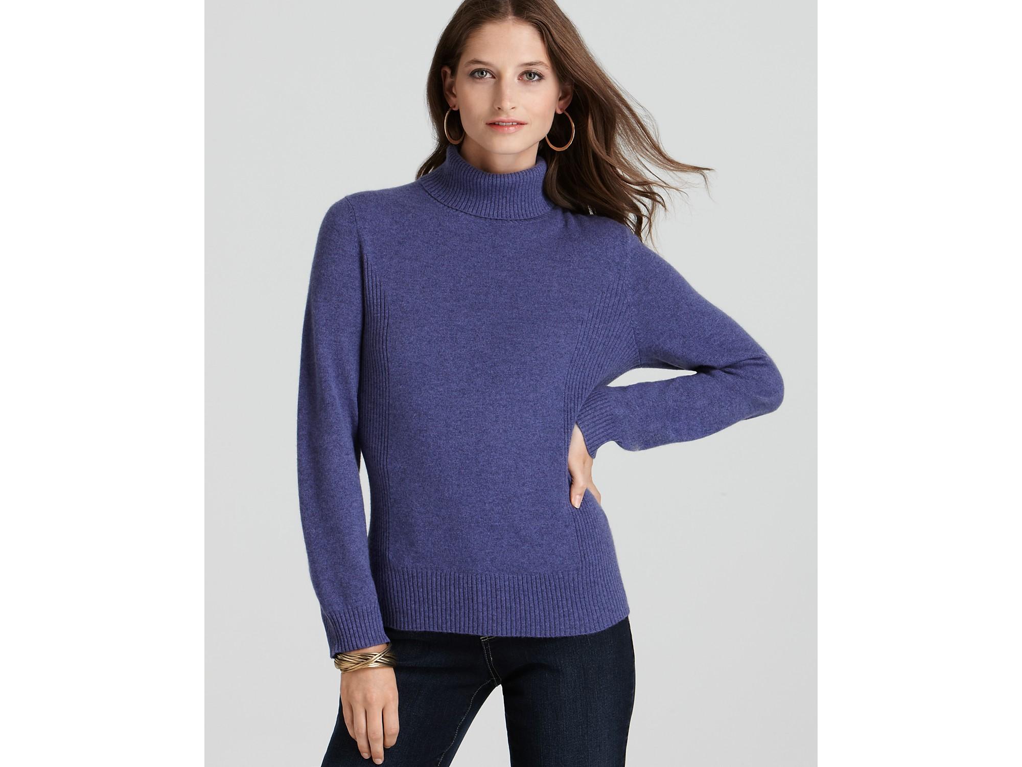 Lyst Ash Jones New York Collection Cashmere Turtleneck Sweater In Purple